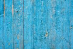 Viejos tableros de madera azules Foto de archivo libre de regalías
