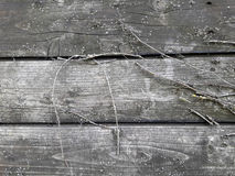 Viejos tableros oscuros Fotografía de archivo libre de regalías