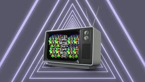 Viejos televisión y triángulos ilustración del vector