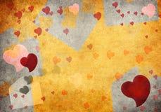 Viejos textura y corazones de papel Foto de archivo