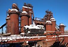 Viejos trabajos de hierro de Demidovsky Nizhny Tagil y de acero Ahora el fábrica-museo nombrado después de Kuibyshev Nizhny Tagil Fotografía de archivo libre de regalías