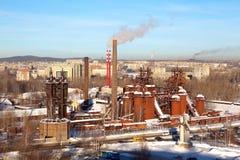 Viejos trabajos de hierro de Demidovsky Nizhny Tagil y de acero Ahora el fábrica-museo nombrado después de Kuibyshev Nizhny Tagil Imagen de archivo