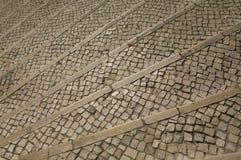 Viejos treps de la escalera del mosaico Imagen de archivo