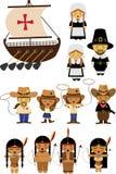 Viejos vaqueros de América y vaqueras e indios libre illustration