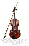 Viejos violín y notas Fotos de archivo