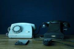 Viejos y nuevos phons Fotografía de archivo libre de regalías