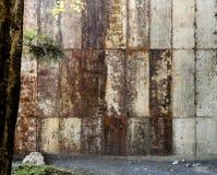 Viel alte verrostete Blechtafel Rostige Oberfläche verursacht durch Oxidation I lizenzfreie stockbilder