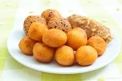 Viel Art des thailändischen Nachtischs. Stockbild