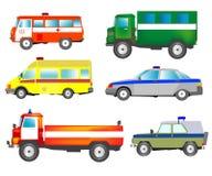 Viel Autos der speziellen Dienstleistungen lizenzfreies stockfoto