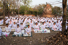 Viel buddhistische Meditation 02 Lizenzfreies Stockfoto