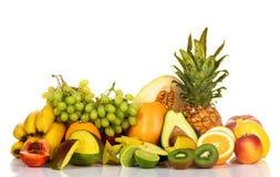 Viel der frischen Früchte stockbild