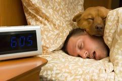 Viel in diepgaande slaap Royalty-vrije Stock Fotografie