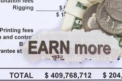 Viel Einkommen Stockfotos