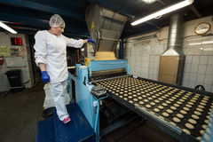 Viel enorme Produktion der süßen Kuchenlebensmittel-Fabrik Lizenzfreies Stockbild