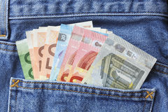 Viel europäisches Geld Stockfoto