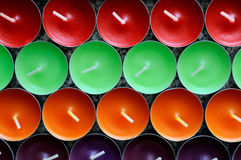viel-farbige Kerzen Lizenzfreie Stockfotos