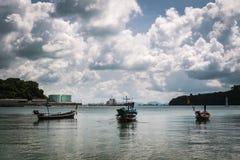 Viel Fischerboot auf dem Meer Stockbild
