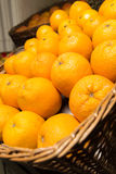 Viel frische rohe Orange Stockbild