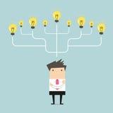 Viel Geschäftsmann Idee zum Erfolgskonzept Stockfotos
