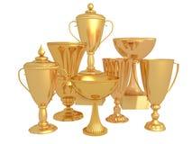 Viel Goldcup für den Sieger Lizenzfreie Stockfotos