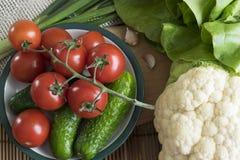 Viel hilfreiches Gemüse auf dem Tisch Stockbilder