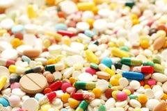 Viel Medizin und Pillen Stockfotos