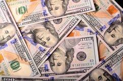 Viel Nominalwert von 100-Dollar - Scheinen Stockfoto