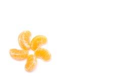 Viel orange Formweißhintergrund Lizenzfreie Stockfotografie
