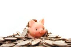 Viel Safe Geld auf weißem getrenntem Hintergrund Lizenzfreie Stockfotografie