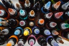Viel Tinte für Tätowierung lizenzfreies stockbild