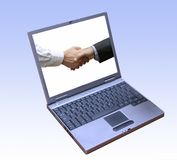 Viel versprechende Finanzsoftware Lizenzfreie Stockbilder