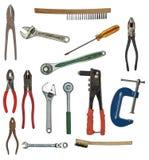 Viele übergeben Werkzeuge Stockfoto