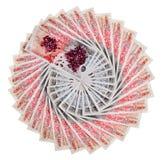 Viele 50 Pfundsterlingbanknoten Stockfotos