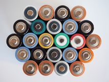 Viele AA-Batterien Lizenzfreie Stockfotografie