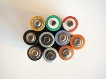 Viele AA-Batterien Stockfoto