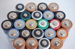 Viele AA-Batterien Stockbilder