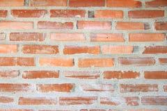 Viele alten Ziegelsteine Orange Backsteinmauer des Hauses für Hintergrund oder Beschaffenheit lizenzfreie stockfotografie