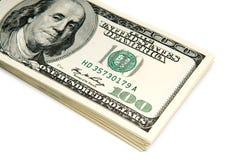 Viele amerikanischen Dollarscheine Stockbilder