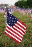 Viele amerikanischen Flaggen Stockfotografie