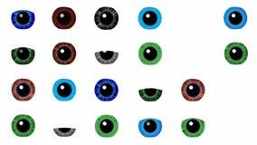 Viele Augen sieht viele lizenzfreie abbildung