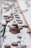 Viele bügeln Münzen Lizenzfreie Stockfotos