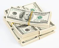 Viele Bündel US 100 Dollar Banknoten Lizenzfreie Stockfotos