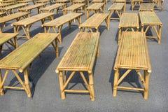 Viele Bambusstühle Lizenzfreie Stockbilder