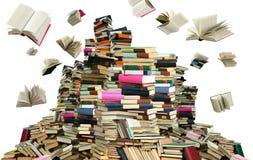Viele Bücher Stockbild