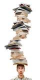 So viele Bücher, so wenig Zeit. Stockbild