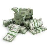 Viele Bill-Stapel Lizenzfreies Stockfoto