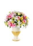 Viele blühen und Blumentopf Lizenzfreie Stockfotografie