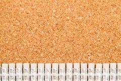 Viele Bleistifte mit Gummis Lizenzfreies Stockbild