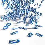 Viele Broschüren und Flaggen von Schottland Lizenzfreie Stockbilder