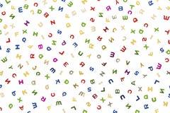 Viele Buchstaben von verschiedenen Farben lizenzfreie abbildung